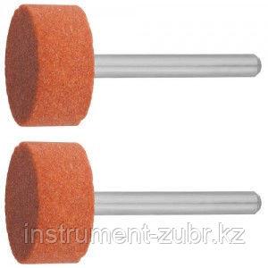 Круг ЗУБР абразивный шлифовальный на шпильке, P 120, d 15,0x10,0х3,2мм, L 45мм, 2шт                                                                   , фото 2