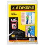 """Пленка STAYER """"STANDARD"""" защитная укрывочная, HDPE, 7 мкм, 4 х 12,5 м                                                   , фото 2"""