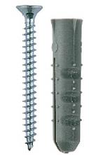 """Дюбель распорный полипропиленовый, тип """"Ёжик"""", в комплекте с шурупом, 6 х 25 / 3,5 х 35 мм, 15 шт, ЗУБР"""