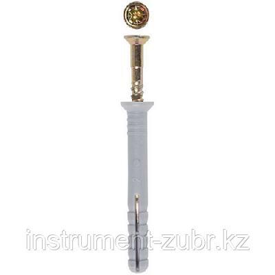 Дюбель-гвоздь полипропиленовый, цилиндрический бортик, 6 x 40 мм, 2000 шт, ЗУБР 4-301360-06-040