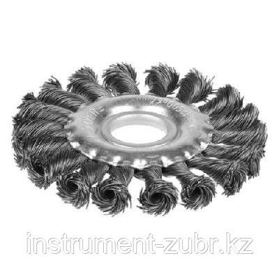 """STAYER """"PROFESSIONAL"""". Щетка дисковая для УШМ, жгутированная стальная проволока 0,5мм, 125ммх22мм, фото 2"""