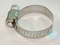Хомуты оцинкованные, просечная лента 12.7 мм, 32-51 мм, 100 шт, ЗУБР