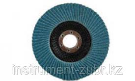 Круг лепестковый торцевой циркониевый, 115х22,2мм, тип КЛТ 1, ЗУБР P60