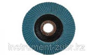 Круг лепестковый торцевой циркониевый, 125х22,2мм, тип КЛТ 1, ЗУБР P80