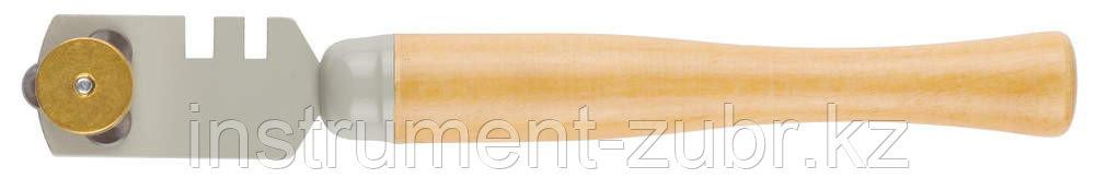 "Стеклорез STAYER ""MASTER"", деревянная ручка, 3 ролика"