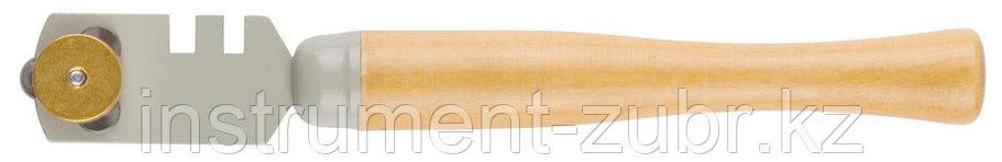"Стеклорез STAYER ""MASTER"", деревянная ручка, 3 ролика                                                                                                 , фото 2"