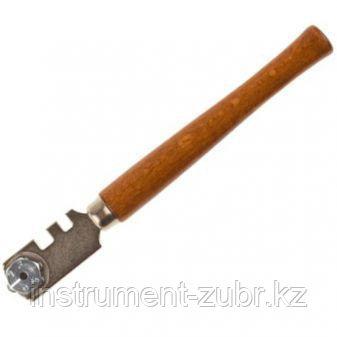 """Стеклорез STAYER """"PROFI"""" роликовый, 6 режущих элементов, с деревянной ручкой                                                                          , фото 2"""
