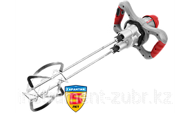 """Миксер ЗУБР ЗМР-1350Э-2 строительный, двойной, 1350 Вт, 0-520 об/мин, перемешивание """"сверху-вниз"""""""