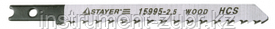 """Полотна STAYER """"PROFI"""", U301CD, для эл/лобзика, HCS, по дереву, US-хвост., шаг 4мм, 100мм, 3шт"""