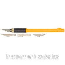 Набор OLFA Нож перовой с профильными лезвиями, 6мм, 4шт