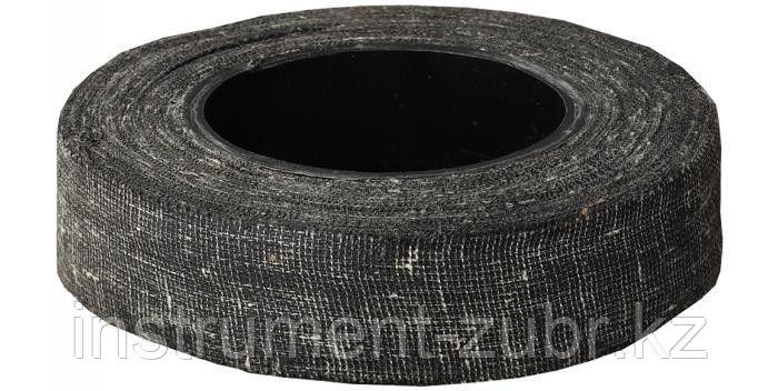 Изолента, ЗУБР 1230-3, армированная х/б тканью, 250 г, черная, фото 2