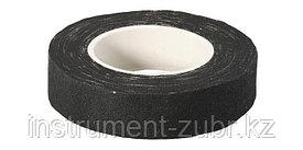 Изолента, ЗУБР 1231-11, на хлопчатобумажной основе, 18мм х 9м, черная