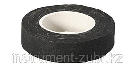 Изолента, ЗУБР 1231-19, на хлопчатобумажной основе, 18мм х 15м, черная