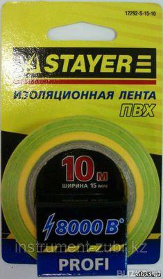 Изолента, STAYER Profi 12292-S-15-10, ПВХ, на карточке, 15 мм х 10 м х 0,18мм, желто-зеленая, фото 2