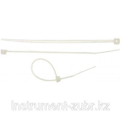 Хомуты-стяжки белые, 2.5 х 100 мм, 100 шт, нейлоновые, STAYER