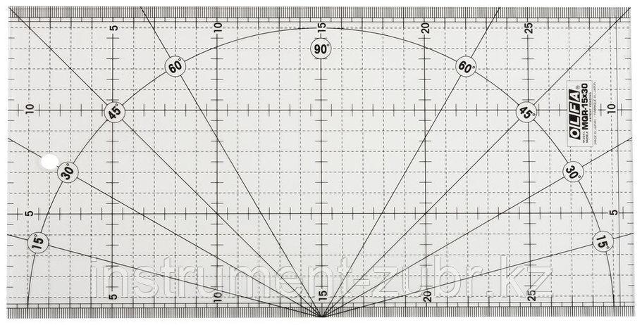 Линейка OLFA разметочная, метрическая, 150х300мм                                                                        , фото 2