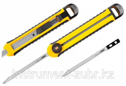 Мини ножовка OLFA по гипсокартону, полотно 95мм, нож AUTO LOCK с сегментированным лезвием 12,5мм, 2 в 1                                               , фото 2