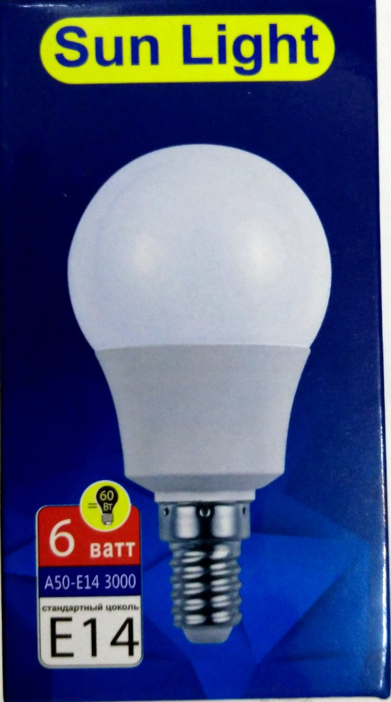 LED A50 Лампа светодиодная 6Вт Е27 3000К