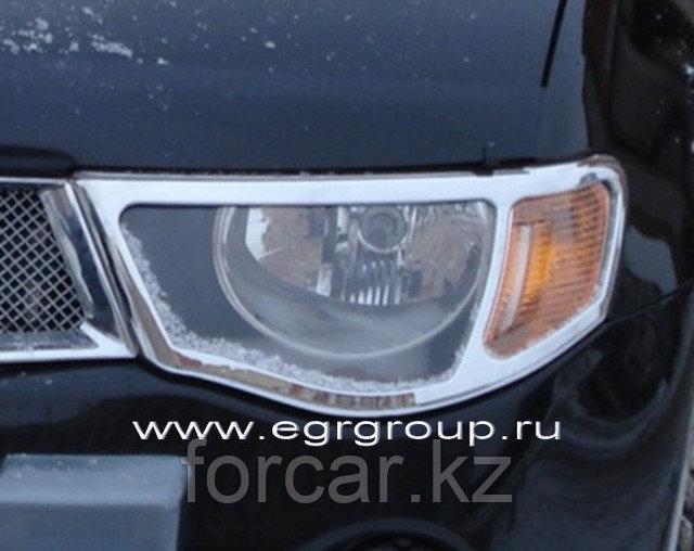 Накладки на передние фары EGR хромированные Mitsubishi L200 2007-2009