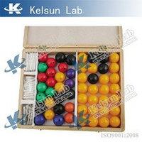 Набор атомов для составления моделей молекул со стержнями (демонстрационный, 100-деталей)
