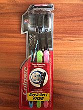 Зубная щетка угольная Colgate 2 шт +1 в подарок
