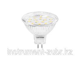 "Лампа СВЕТОЗАР светодиодная ""LED technology"", цоколь GU5.3, теплый белый свет (3000К), 220В, 5Вт (35)"