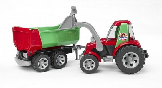 Bruder Игрушечный Трактор с ковшом и прицепом Roadmax (Брудер)