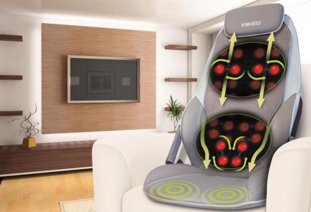 Накидка массажная Homedics BMSC-5000H-EU легко поместится на любом кресле