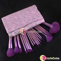 Набор из 20-ти кистей для макияжа + фиолетовый чехол, фото 1