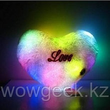"""Плюшевая светящаяся подушка """"Сердце"""""""