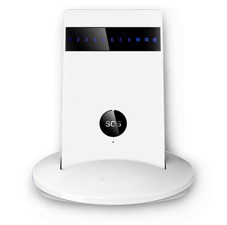 """Основной блок беспроводной GSM-сигнализации """"SHIELD SLIM"""" на подставке во время зарядки"""