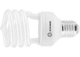 Лампа компактная люминесцентная, полуспиральная, 11W, 2700K, E27, 8000ч. STERN