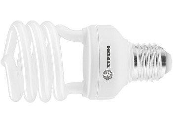Лампа компактная люминесцентная, полуспиральная, 15W, 2700K, E27, 8000ч. STERN