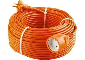 Удлинитель-шнур силовой, 2*1мм*15м, 1 прорезиненная розетка, 10A, STERN