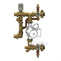Смесительная группа без насоса для систем отопления и теплого пола Giacomini R557RY043