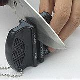Компактная мини точилка для ножей - с двумя уровнями заточки, фото 3