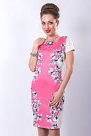 Эффектное платье из текстильного полотна на хлопковой основе. Размеры - 44, 46.