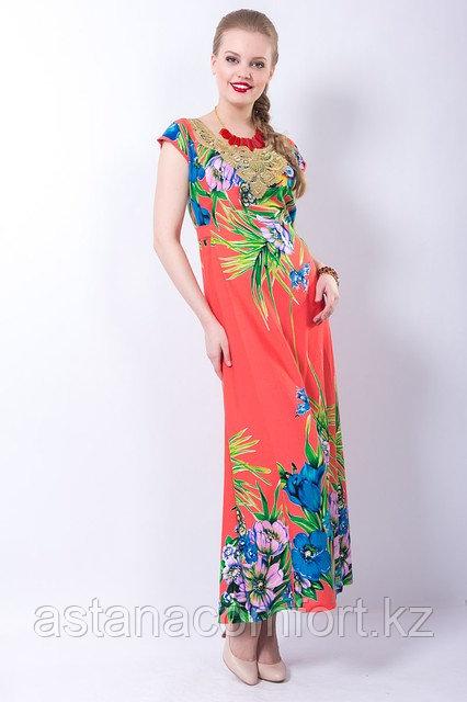 Изумительное платье-макси приталенного силуэта. Россия. Размер - 44.