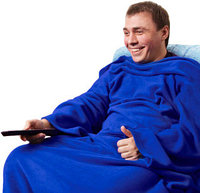 Плед с рукавами Снагги Бланкет (Snuggie Blanket) синий