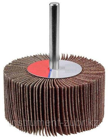 """Круг шлифовальный ЗУБР """"МАСТЕР"""" веерный лепестковый, на шпильке, тип КЛО, зерно-электрокорунд нормальный, P100, 30х60мм                               , фото 2"""
