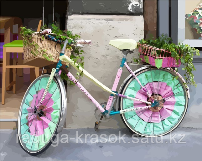 """Картина по номерам """"Велосипед для дамы"""""""