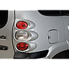 Накладки задних фонарей (кругл) Лада Нива Шевроле 2123 до 2009 гв