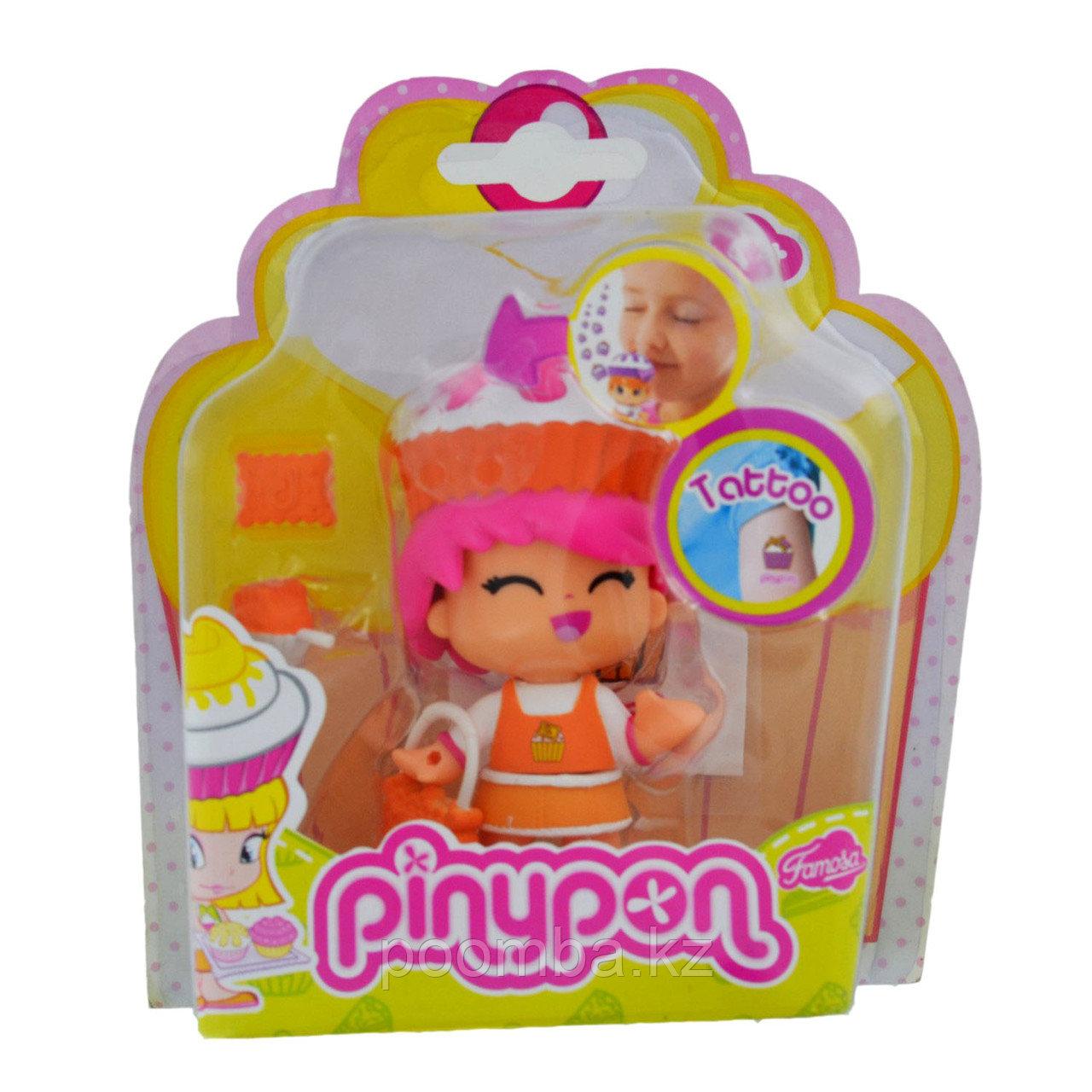 Кукла Пинипон с ароматом пирожного, короткие розовые волосы