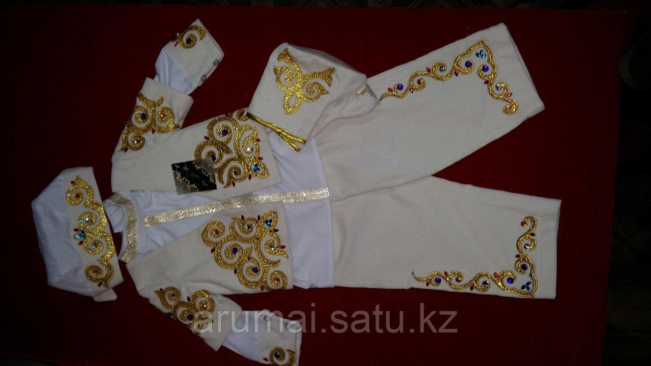 Национальный костюм для мальчиков годовалого возраста, для обряда «Тұсаукесер». - фото 3