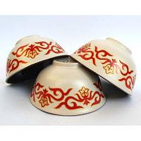 Пиалки керамические с казахскими орнаментами