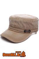 Бежевая кепка в стиле милитари, фото 1