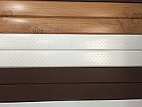 Металлосайдинг вагонка, цвет белый, по низким ценам шоколад