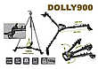Yunteng Dolly 900 колесо для штатива, фото 2