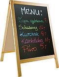Доска деревянная для писания мелом формата 90х60 см для кафе и ресторанов  2x3 (Польша), фото 4