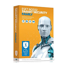 ESET NOD32 Smart Security Family (BOX) База 5ПК/1год